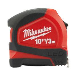 Milwaukee mérőszalag 3m W/LED 3/12