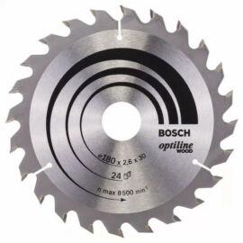 Bosch körfűrészlap fához Optiline Wood 180x30/20  24 fog