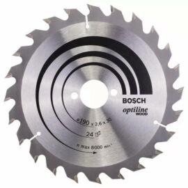 Bosch körfűrészlap fához Optiline Wood 190x30/20  24 fog