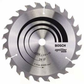 Bosch körfűrészlap fához Optiline Wood 184x16mm   24 fog