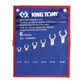Fékcsőkulcs készlet 6db-os 8-22mm King Tony