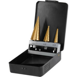 Lépcsős lemezfúró készlet 3db-os  4-32mm