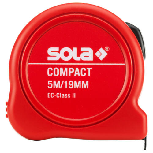 Mérőszalag 5m SOLA Piros Compact