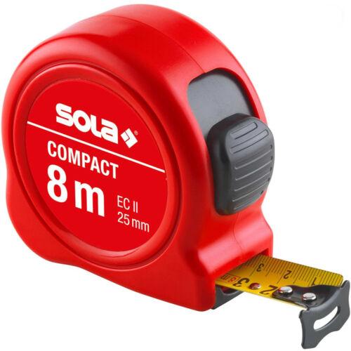 Mérőszalag 8m SOLA Piros Compact