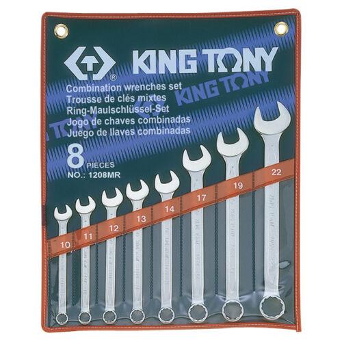 Csillag-villáskulcs klt. 10-22 mm 8 db King Tony