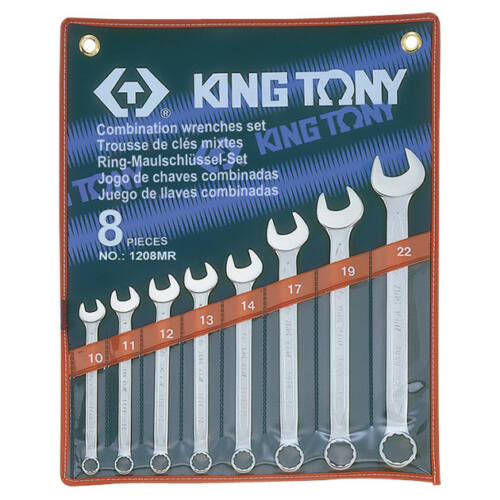 Csillag-villáskulcs készlet 10-22 mm 8 db King Tony