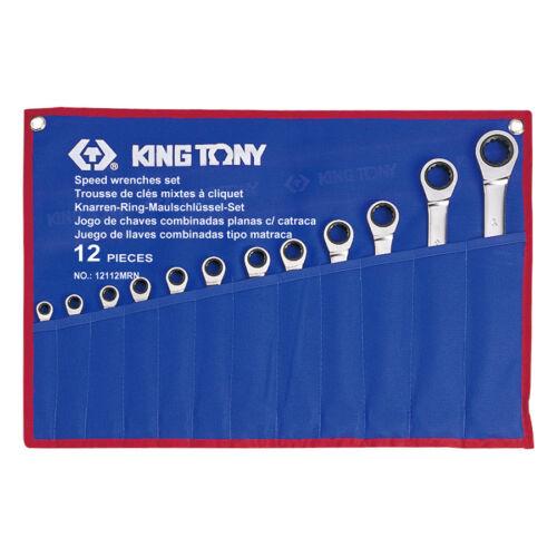 Racsnis csillag-villáskulcs készlet 8-24mm 12részes King Tony