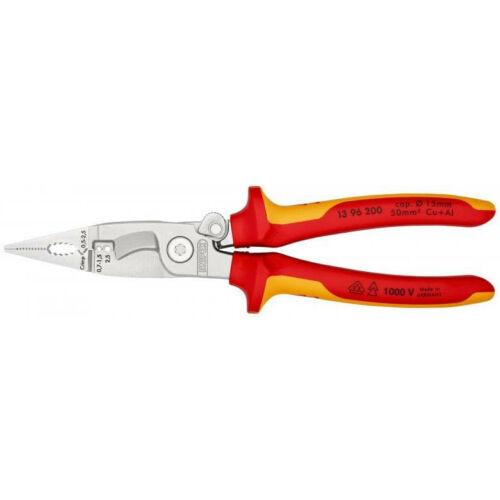 Knipex szerelő fogó 200mm szigetelt nyéllel