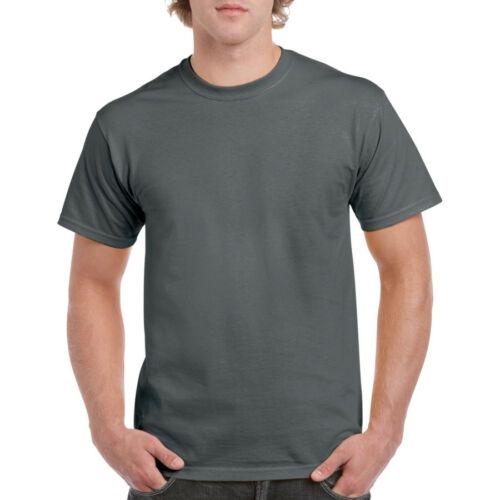 Gildan 5000ch póló charcoal szürke XXXL-es 185g