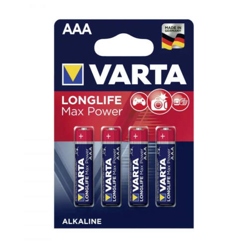 Varta Longlife Max Power alkáli mikroelem AAA (4db)