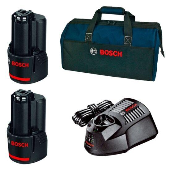 Bosch Promix akku csomag 2x12V 2,0Ah + töltő + táska (0615990J26)