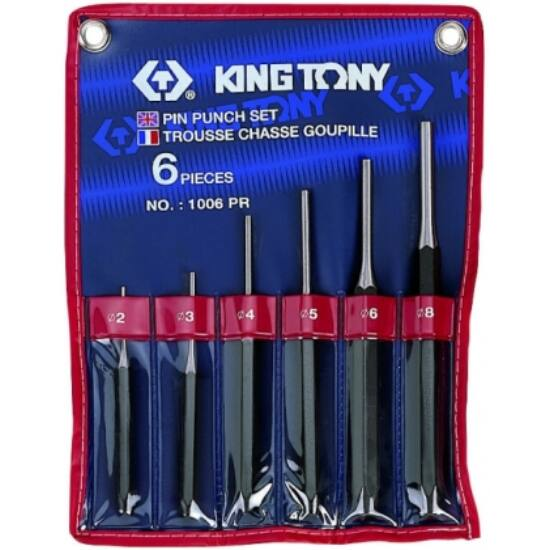 Csapszegkiütő készlet 2-8 mm 6 db King Tony (1006PR)