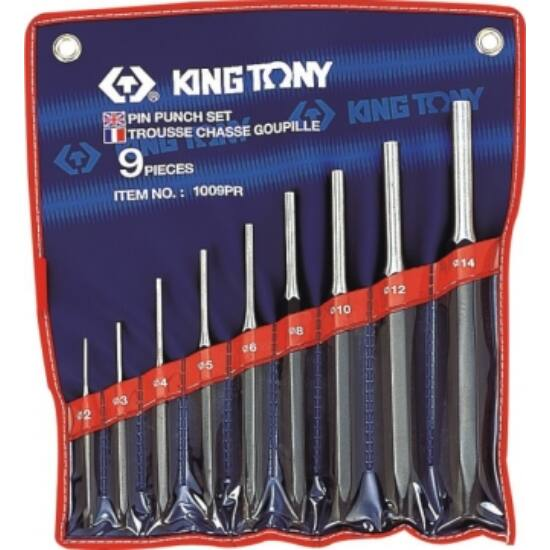 Csapszegkiütő klt. 2-14 mm 9 db King Tony