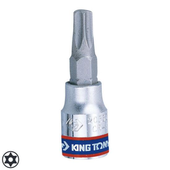 "Torx bitfej 1/4"" furatos T25 King Tony"